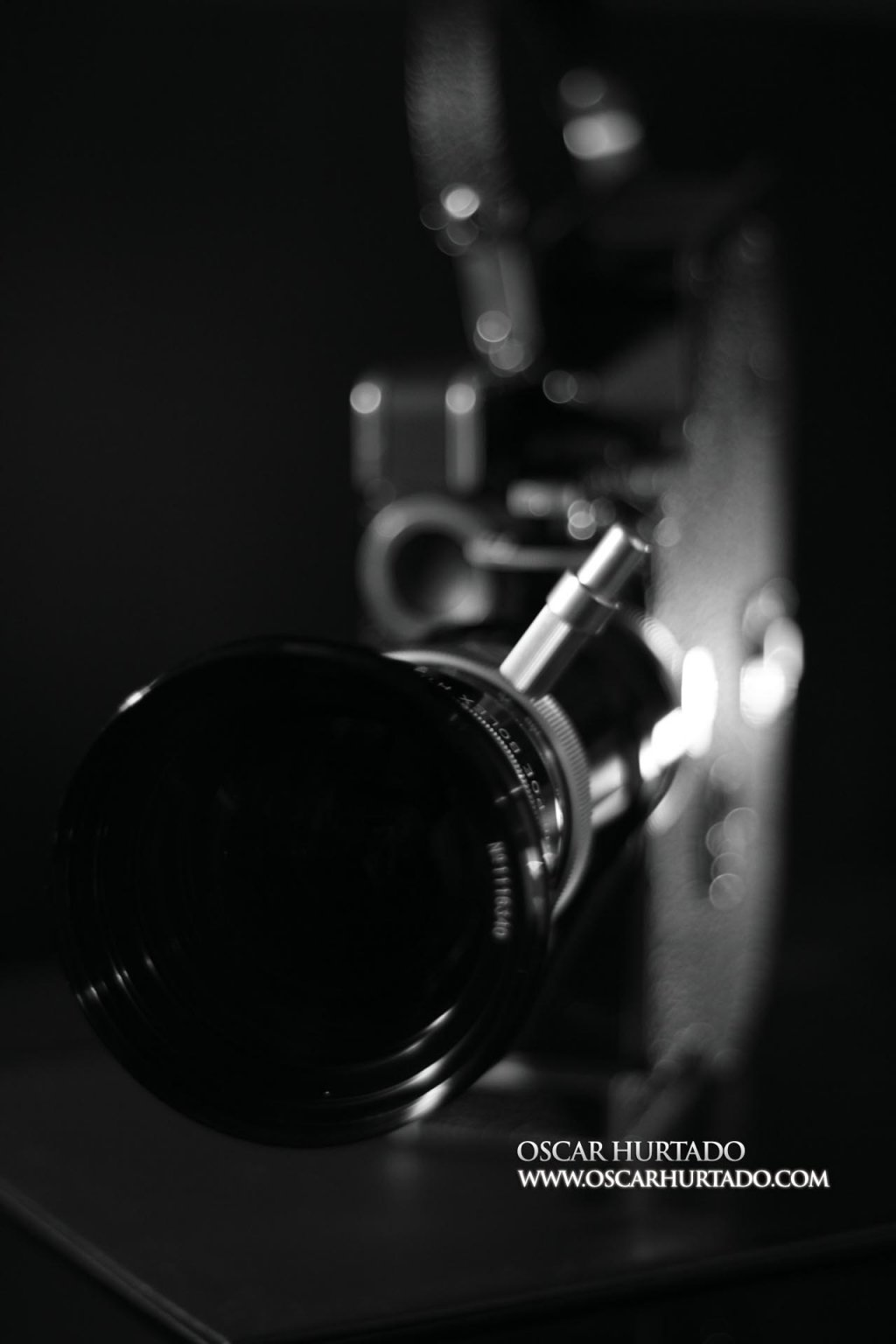 Frontal view of the Bolex Paillard Rex5 16mm camera
