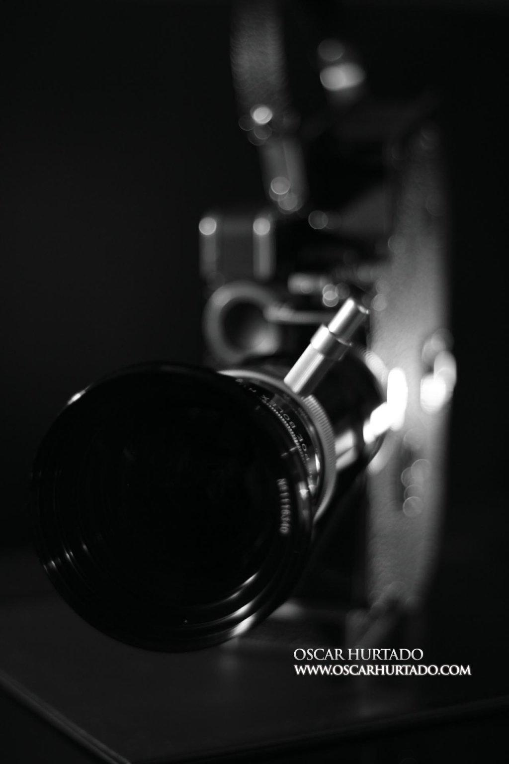 Frontal view of the Bolex Paillard Rex5 16mm camera
