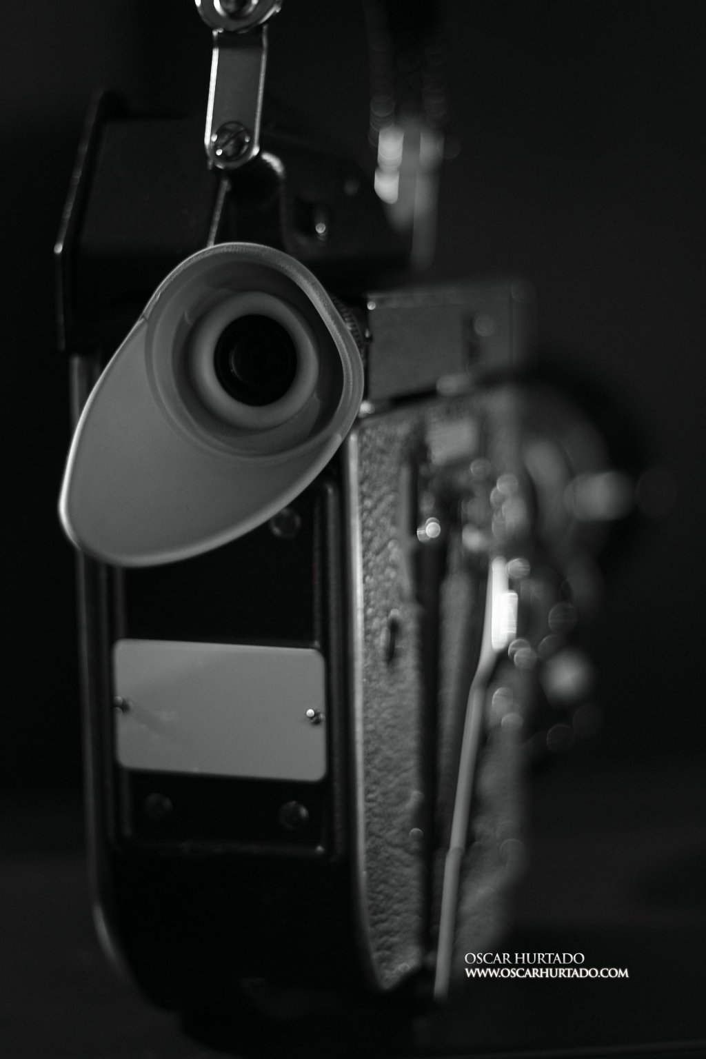 Rear view of a Bolex RX5 16mm camera