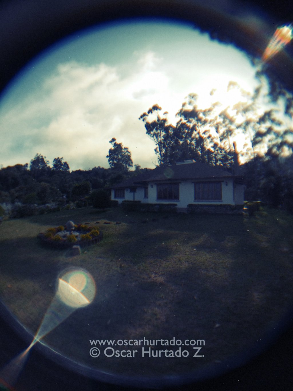 A Fish-eye Villa - Fish-eye color photograph (2014)