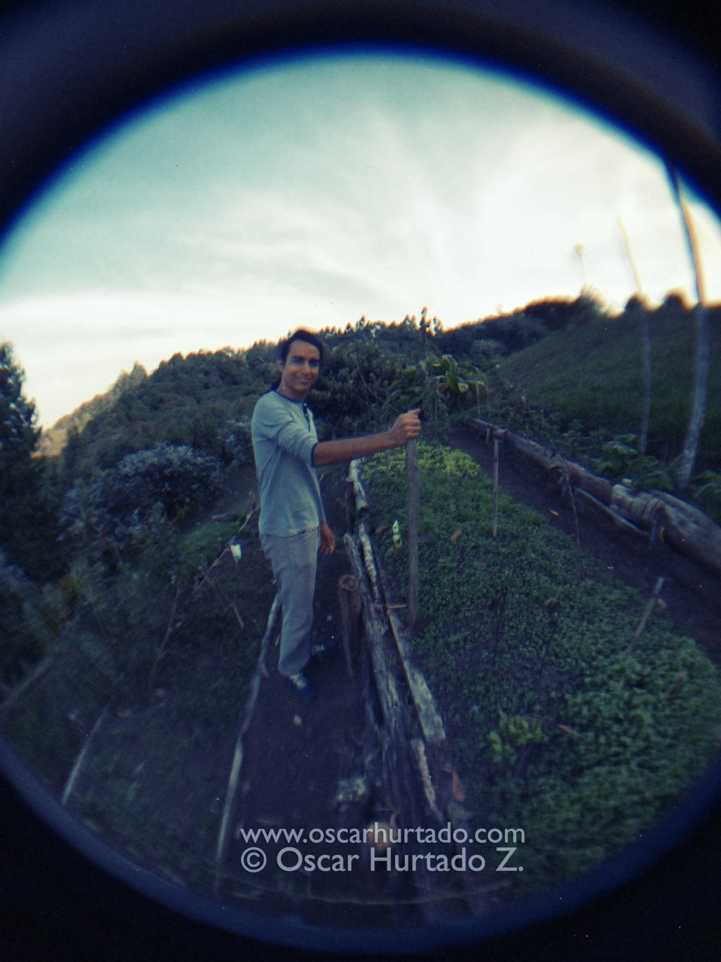 A portrait of my awesome brother shot with a fish-eye lens attached to my phone