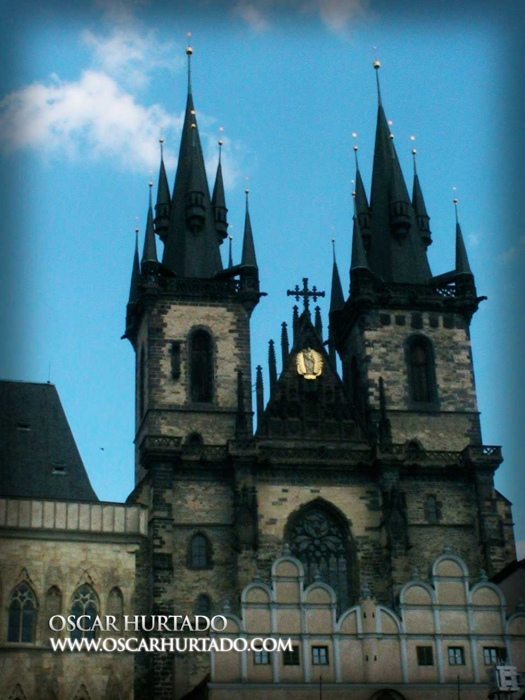 The Church of Our Lady before Týn considered as one of the landmarks of the city center