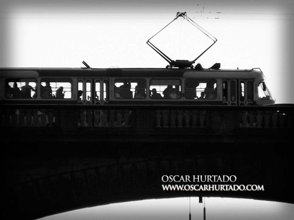 Tram Journey - Black and White photograph (2008)