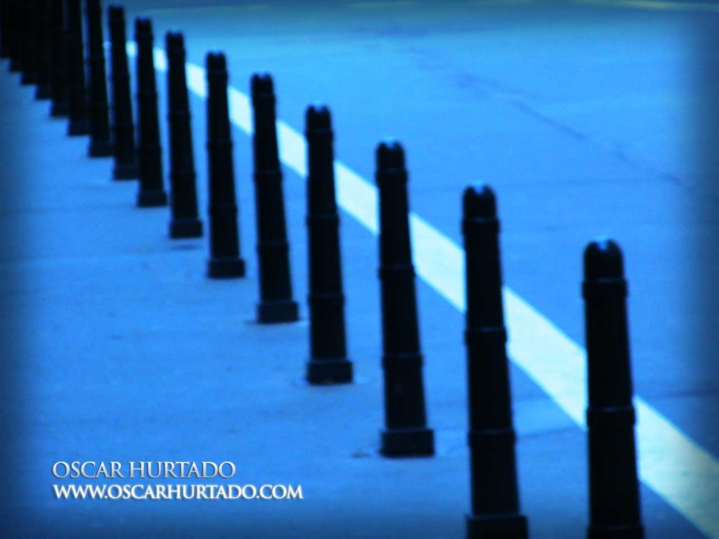 Follow the Blues - Color photograph (2008)