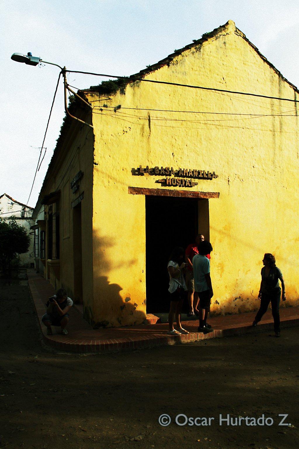 The entrance to La Casa Amarilla Hostel in Mompox