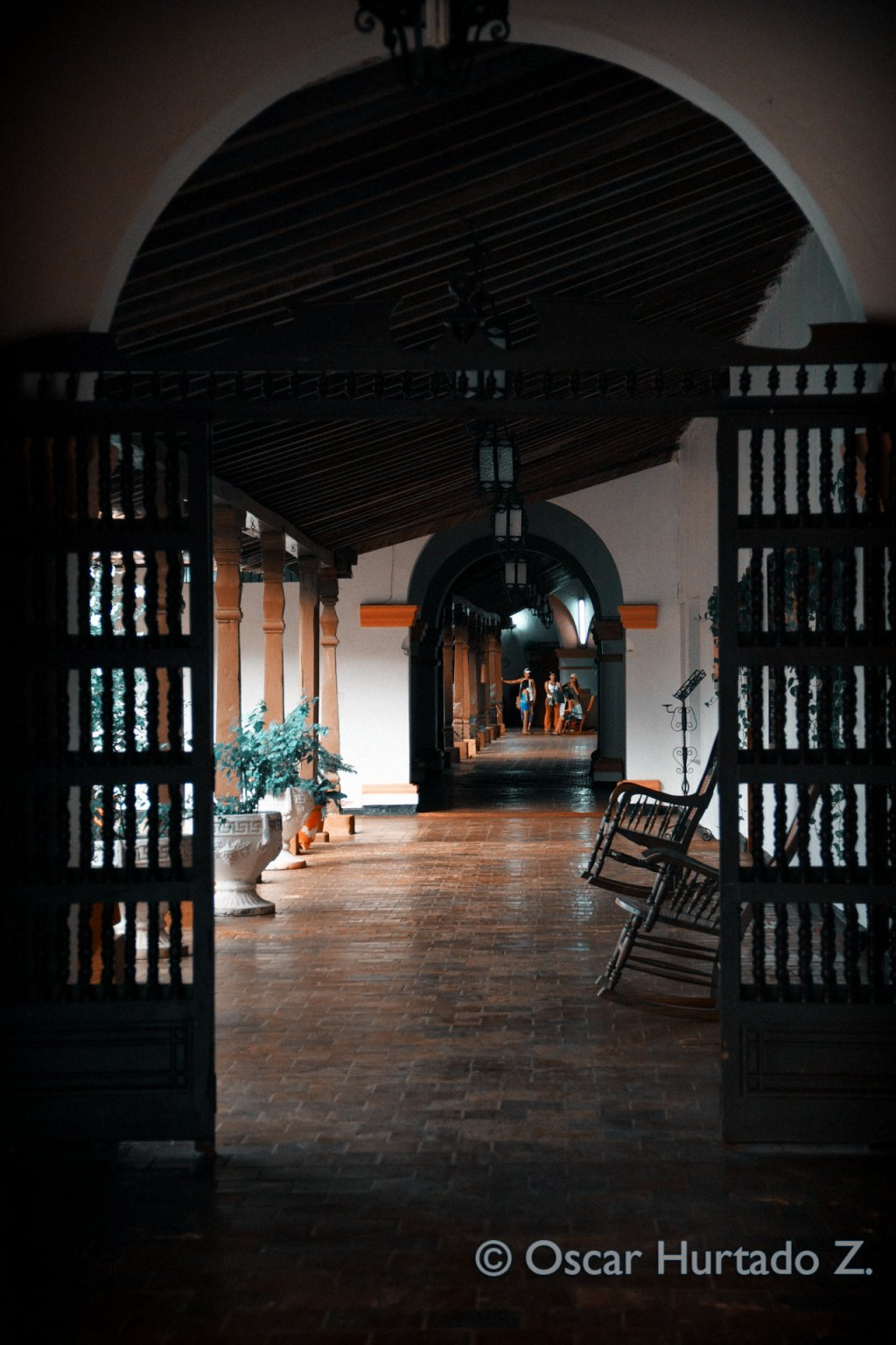 Beautiful interior and architecture present in a colonial home of the town of Mompox