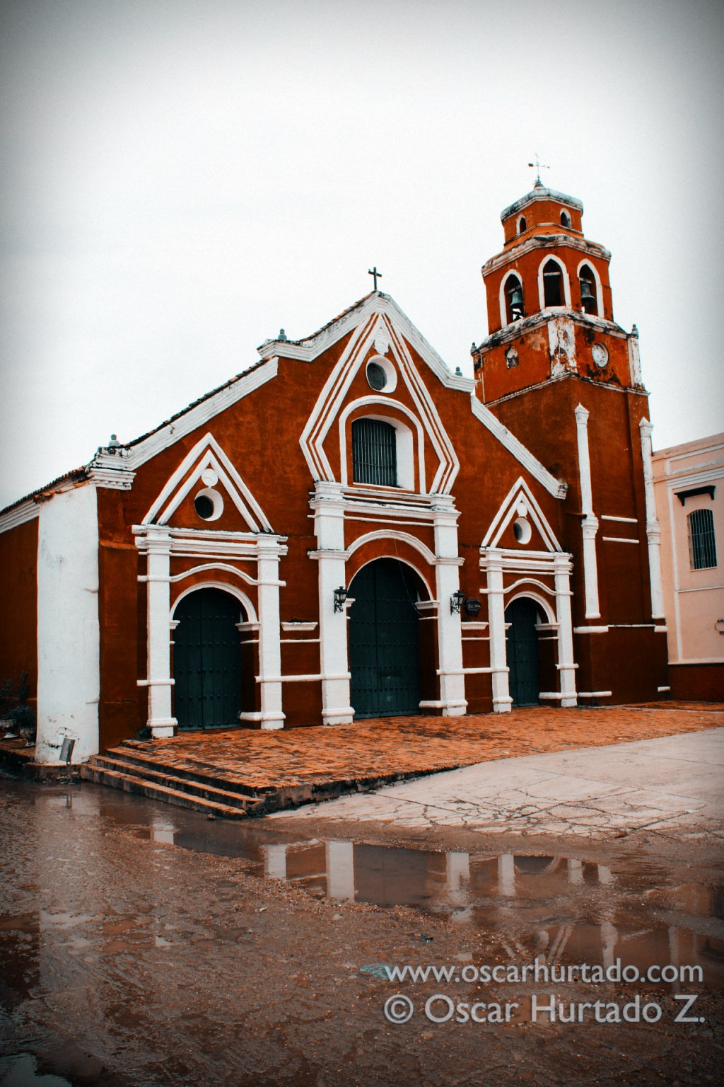 The beautiful colonial San Francisco church in the town of Mompox, Bolivar